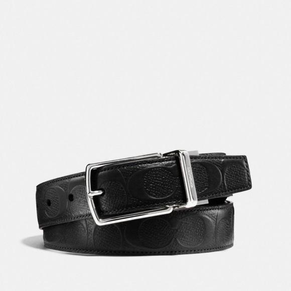6d1945b95c17 Coach Black Cut to Size Reversible Belt